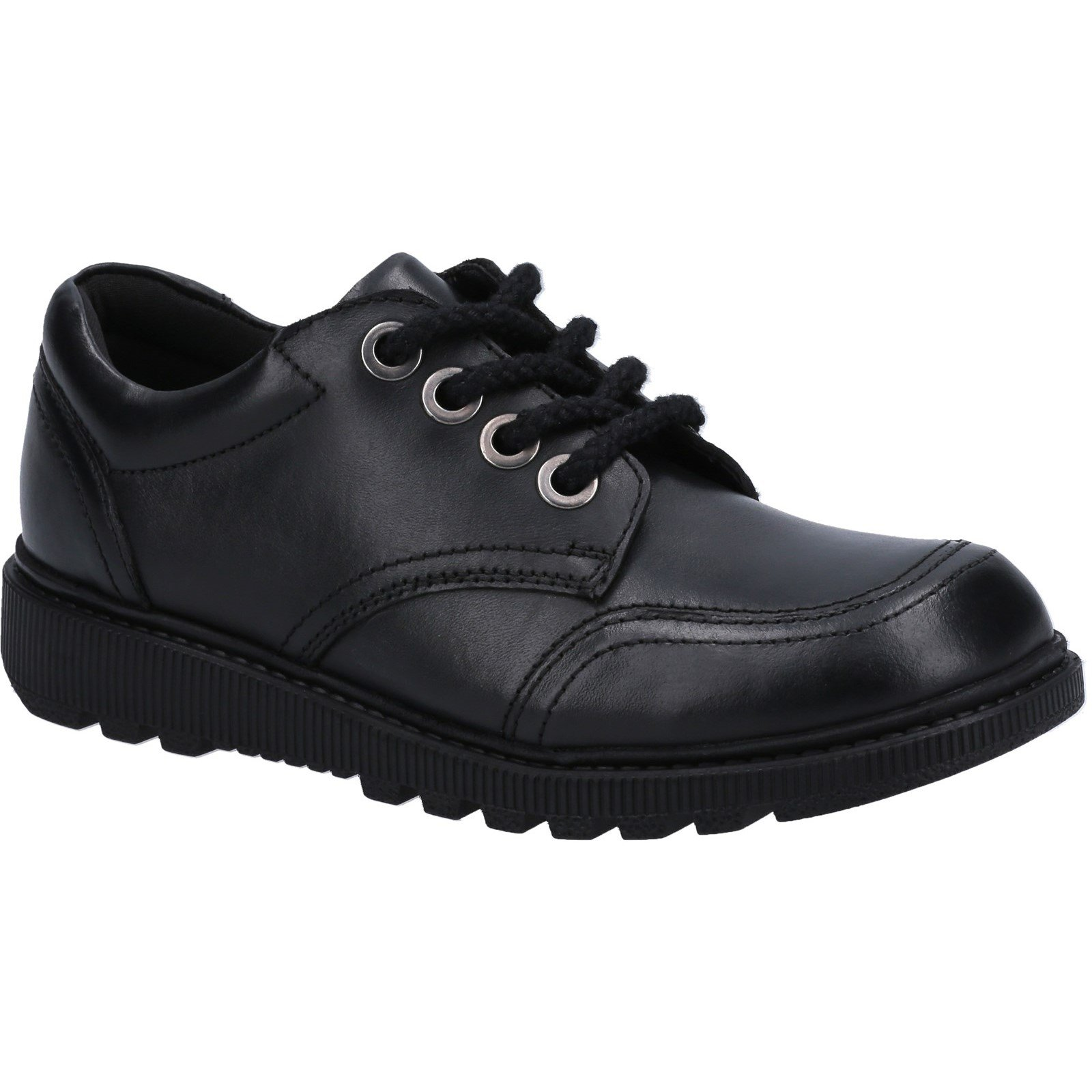 Hush Puppies Kid's Kiera Junior School Shoe Black 30821 - Black 13