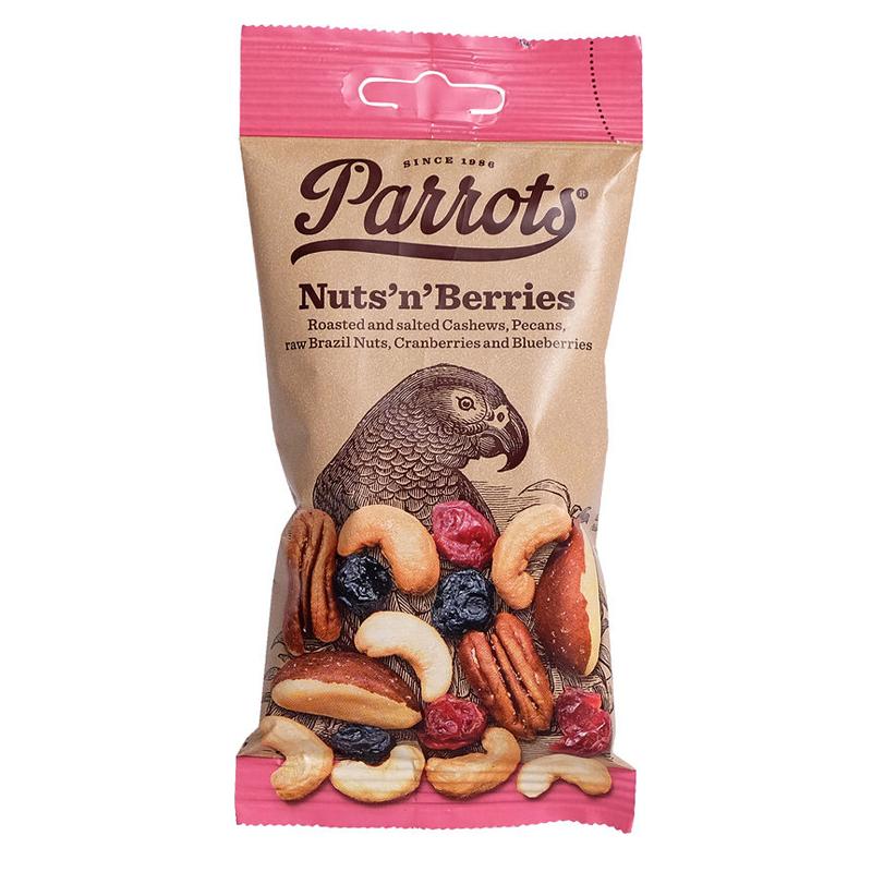 """Pähkinäsekoitus """"Nut's n' Berries"""" 55g - 75% alennus"""