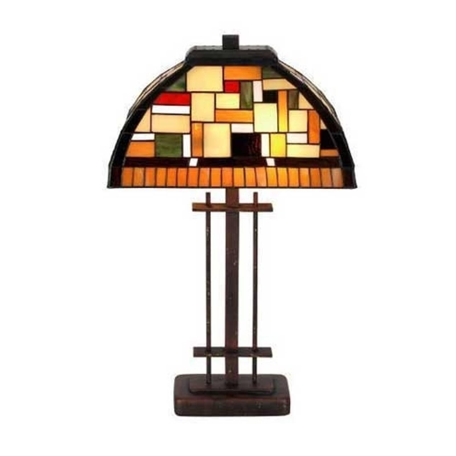 MOSAICA bordlampe i Tiffany-stil
