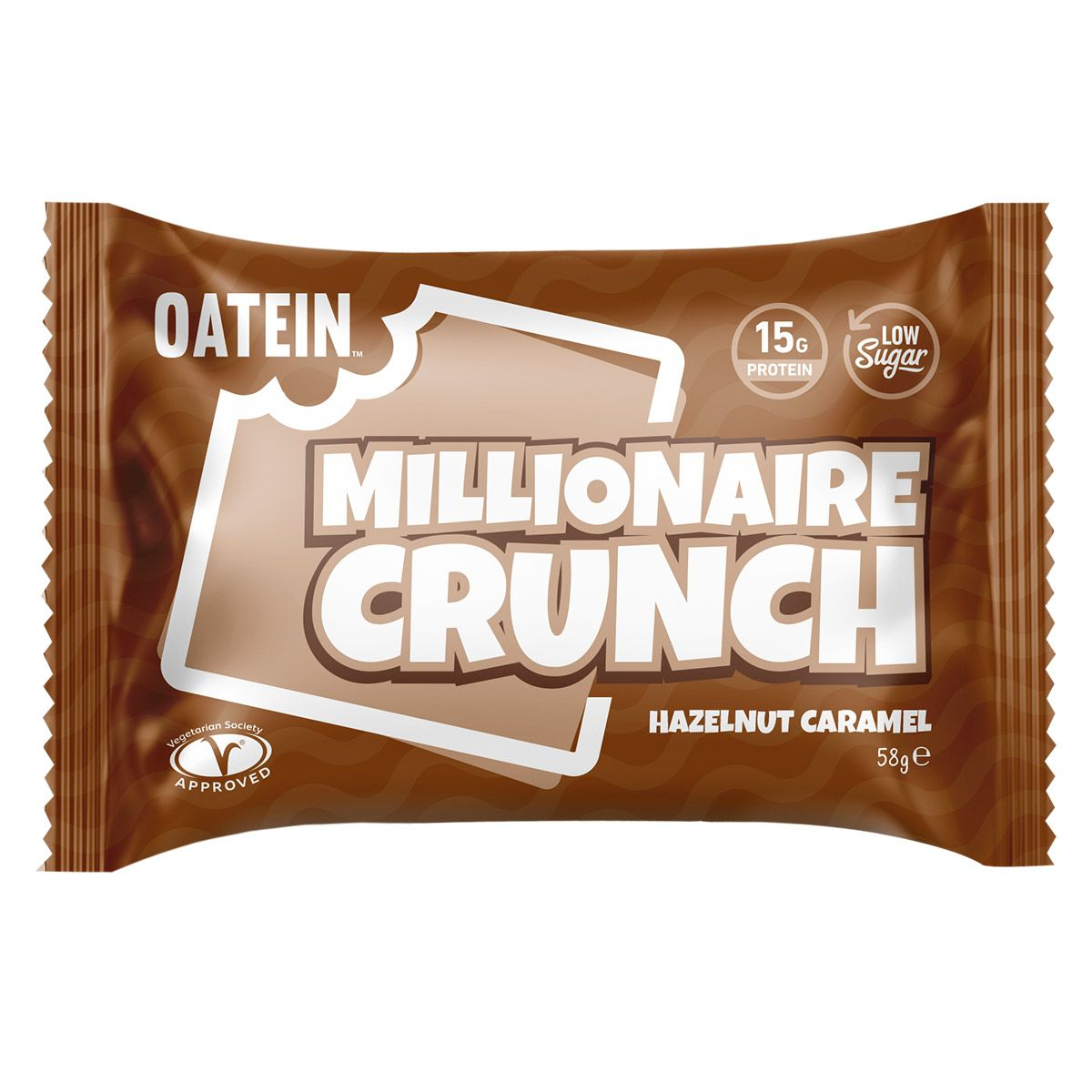 Oatein Millionaire Crunch - Hazelnut Caramel 58g