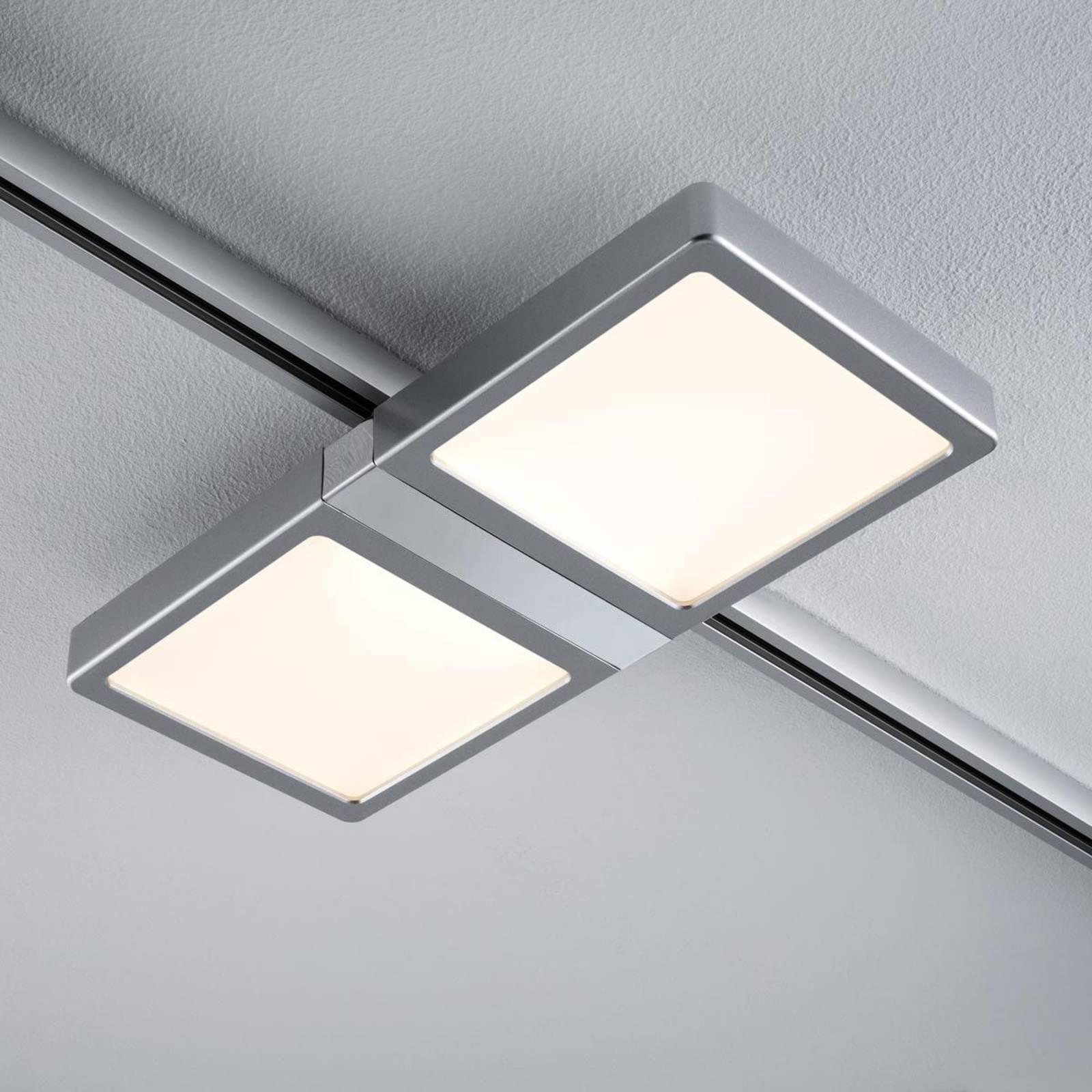 Paulmann URail Double -LED-paneeli, mattakromi