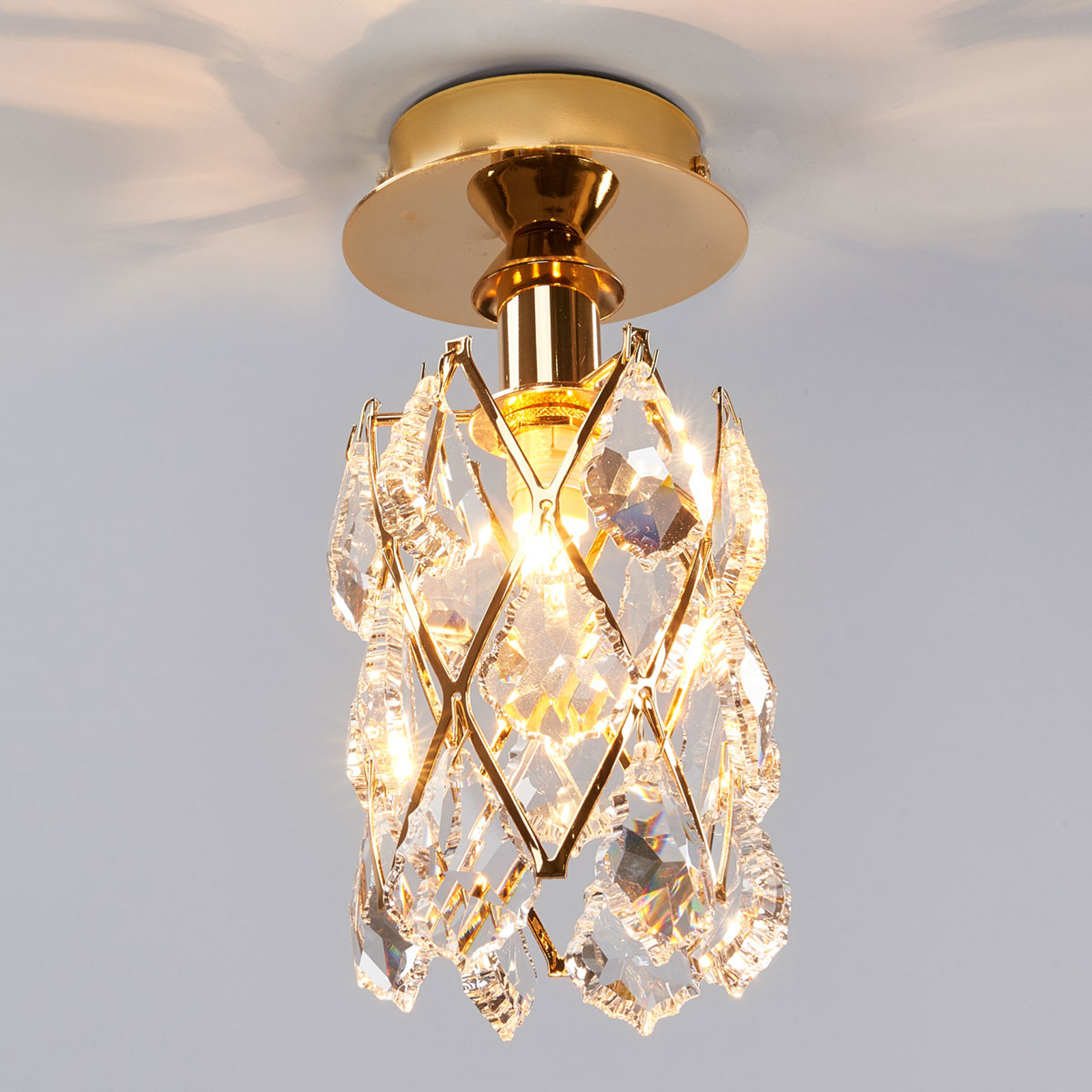 CHARLENE – kullattu kattovalaisin kristallia