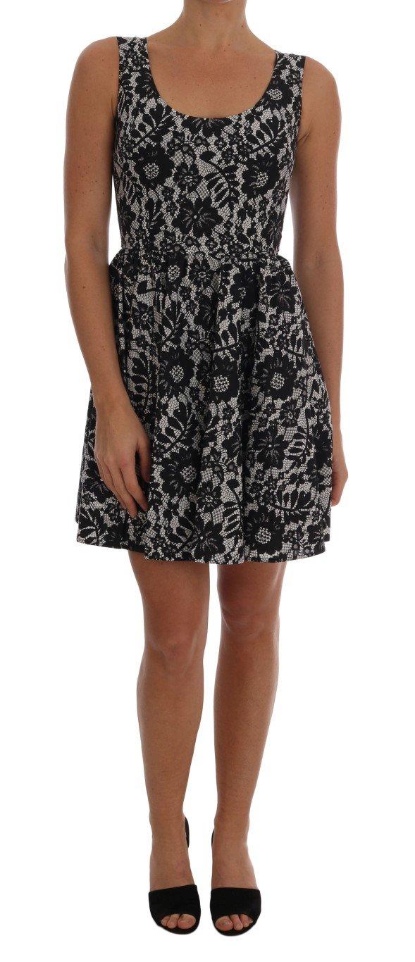 Dolce & Gabbana Women's Floral Print Cotton Dress Multicolor DR1283 - IT40 S