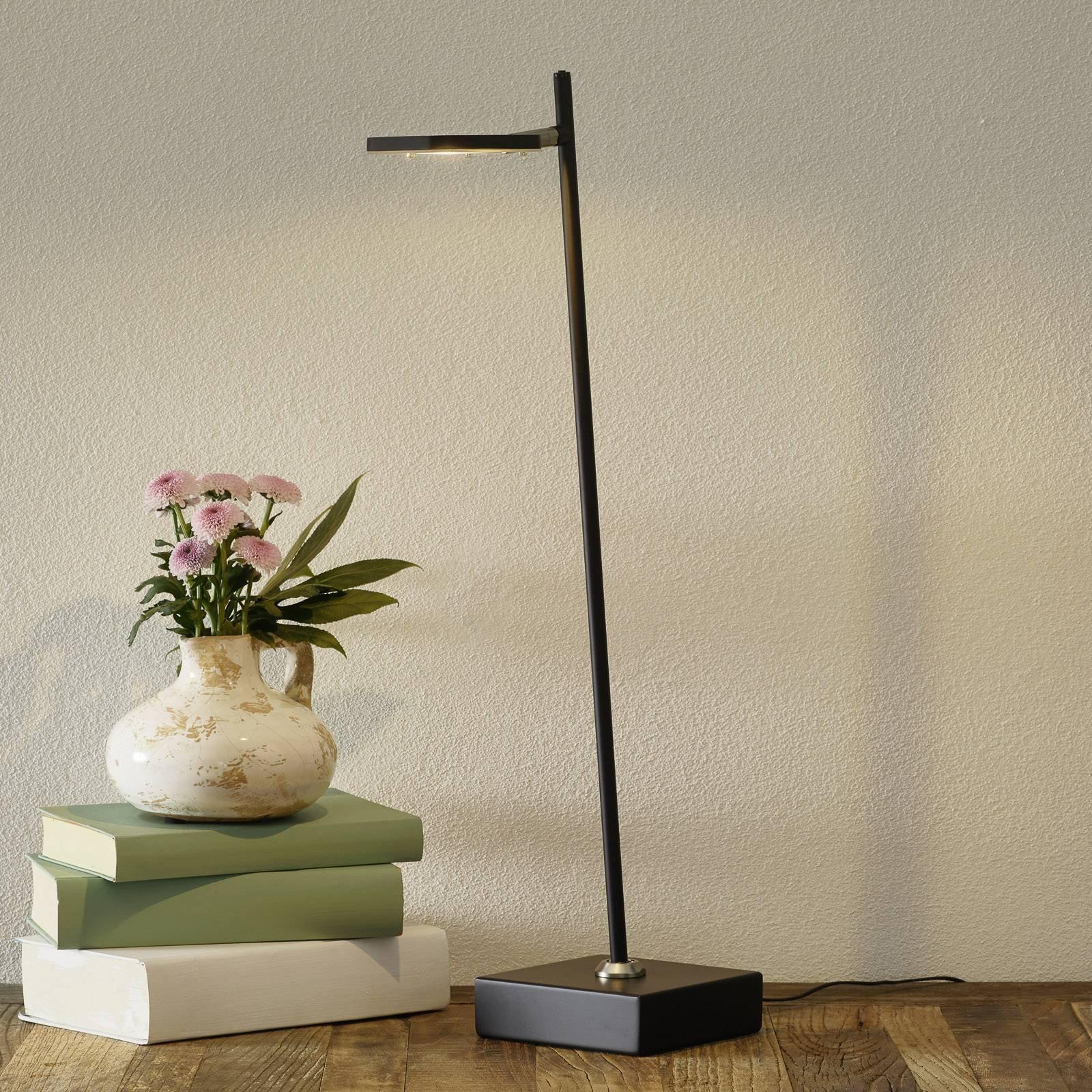 LED-bordlampe Block, dimbar, svart