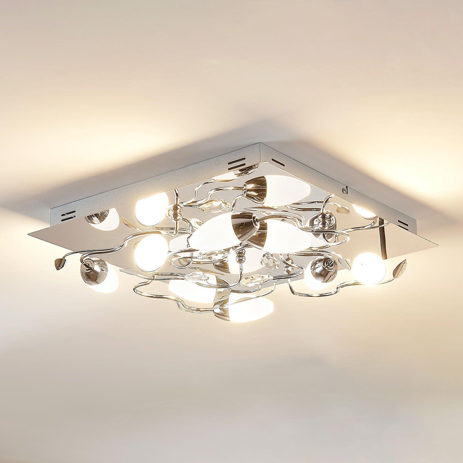 Dimbar LED-taklampe Mischa, 8 LED-lyskilder