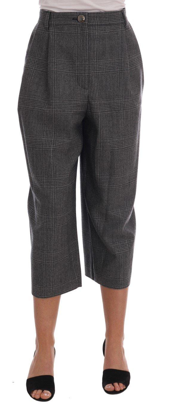 Dolce & Gabbana Women's Wool Capri Trouser Gray BYX1219 - IT46 XL