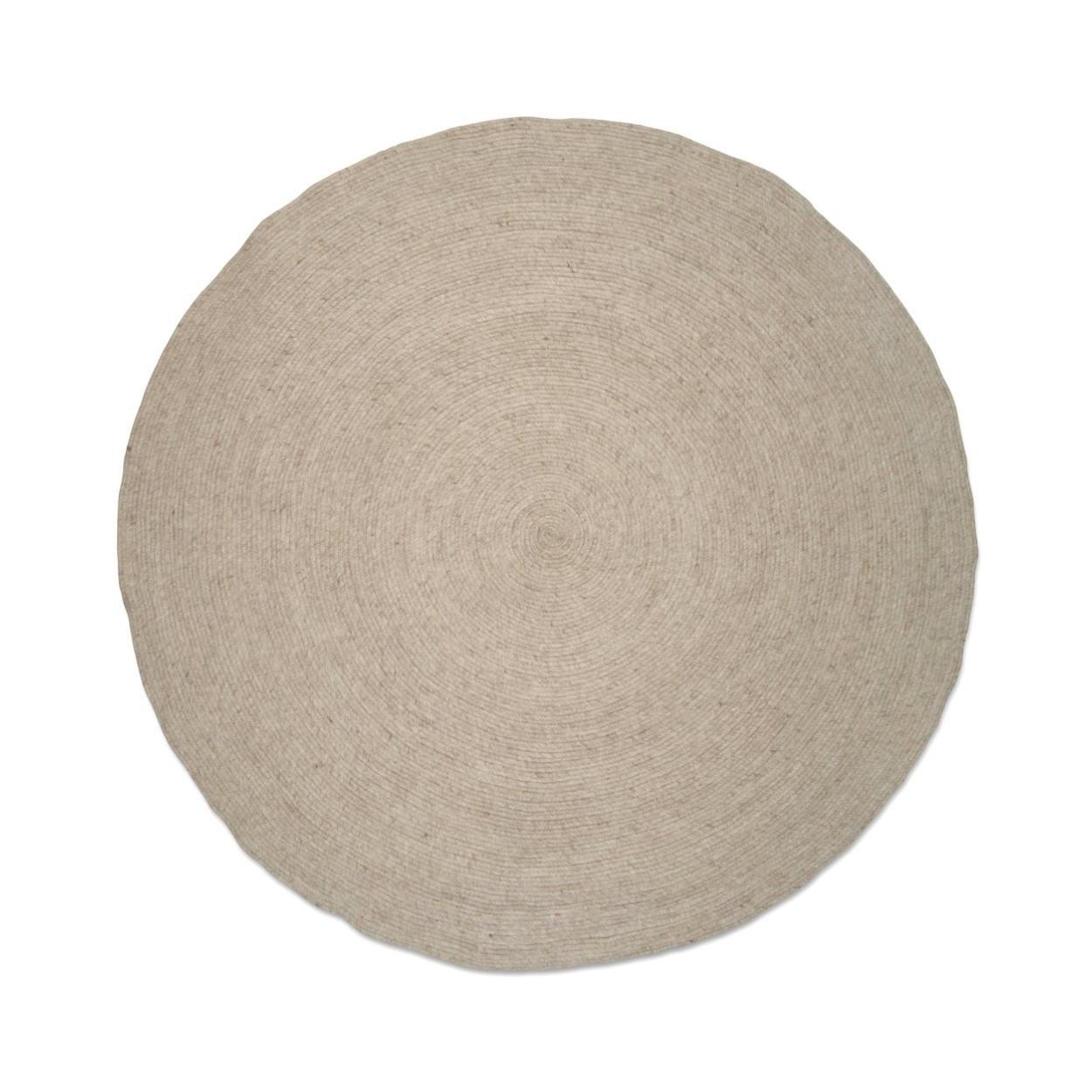 Rund ullmatta Merino oat 160 cm, Classic Collection