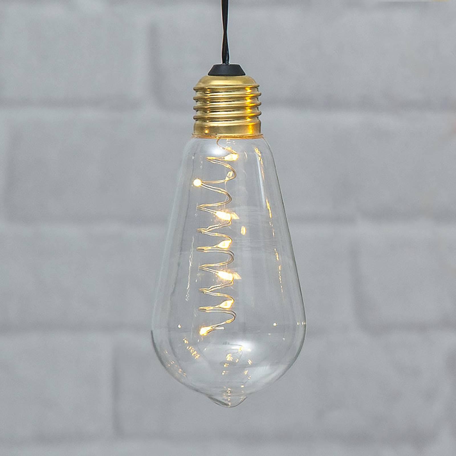 Glow-vintage-LED-koristevalo ajastimella, kirkas