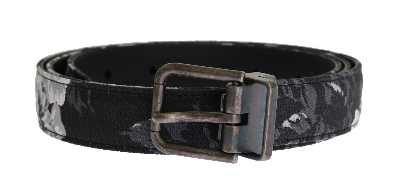 Dolce & Gabbana Men's Cayman Linen Leather Belt Black BEL11008 - 100 cm / 40 Inches