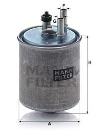 Polttoainesuodatin MANN-FILTER WK 918/2 x