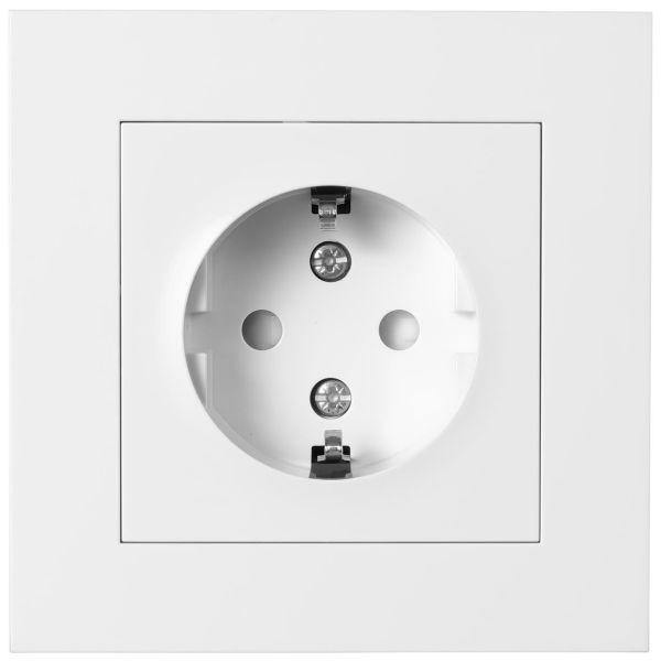 Elko Plus 1-V MJ Inf Snabb Seinäpistorasia Maadoitettu, 1-osainen valkoinen
