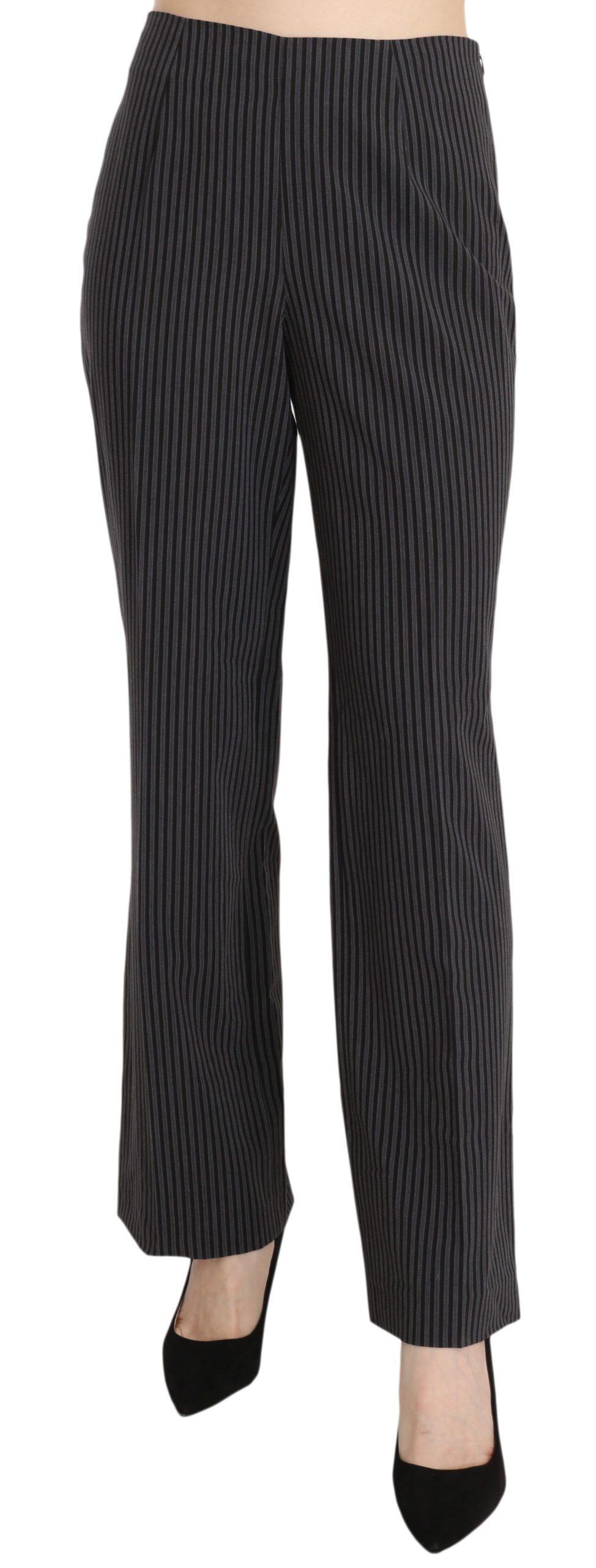 BENCIVENGA Women's Striped Cotton Sretch Dress Trouser Black PAN70094 - IT42|M