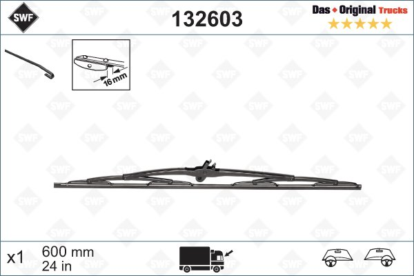 Torkarblad 600mm