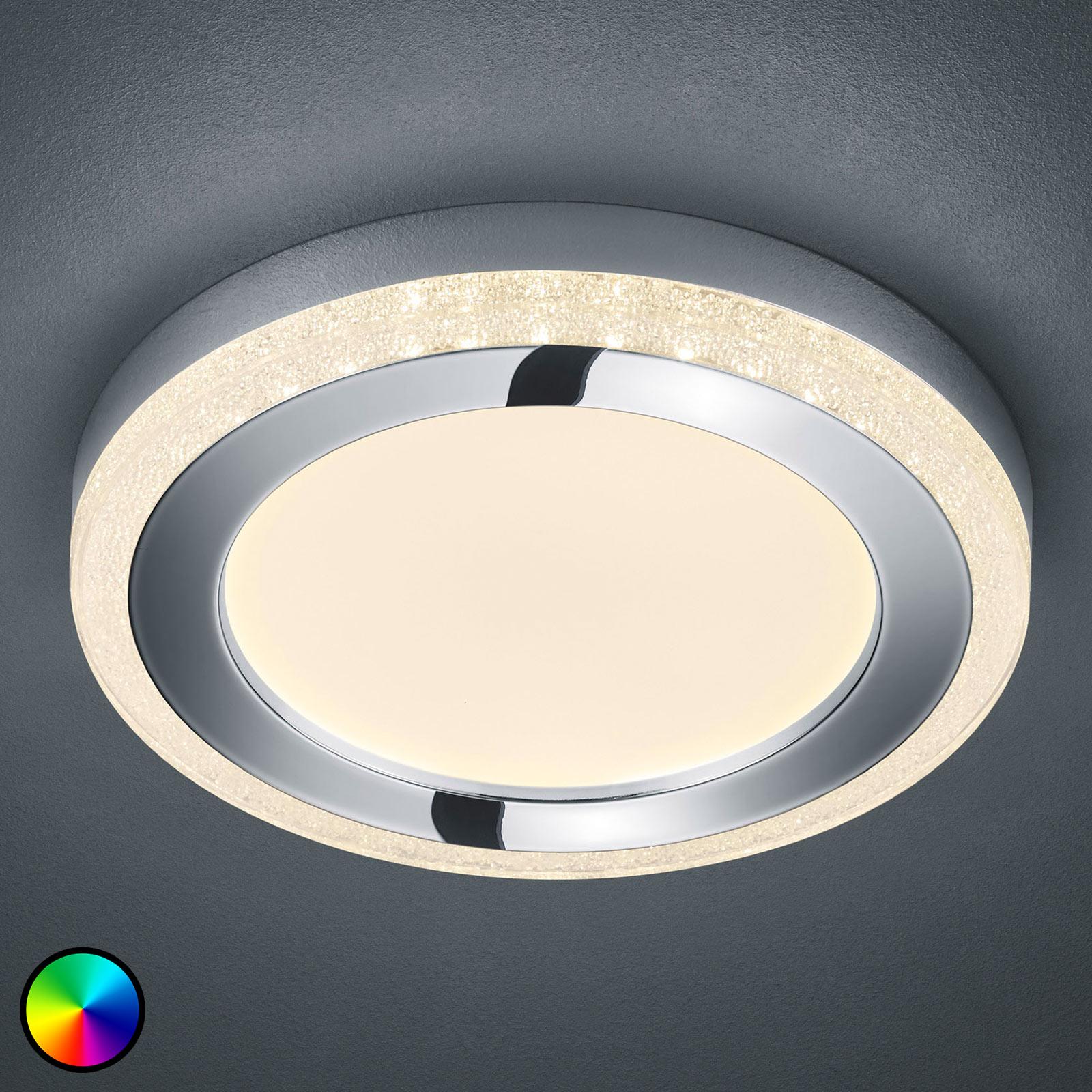 LED-kattovalaisin Slide, valkoinen, pyöreä, Ø 40cm