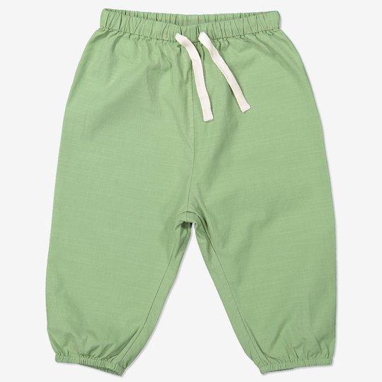 Bukse med knytebånd baby grønn