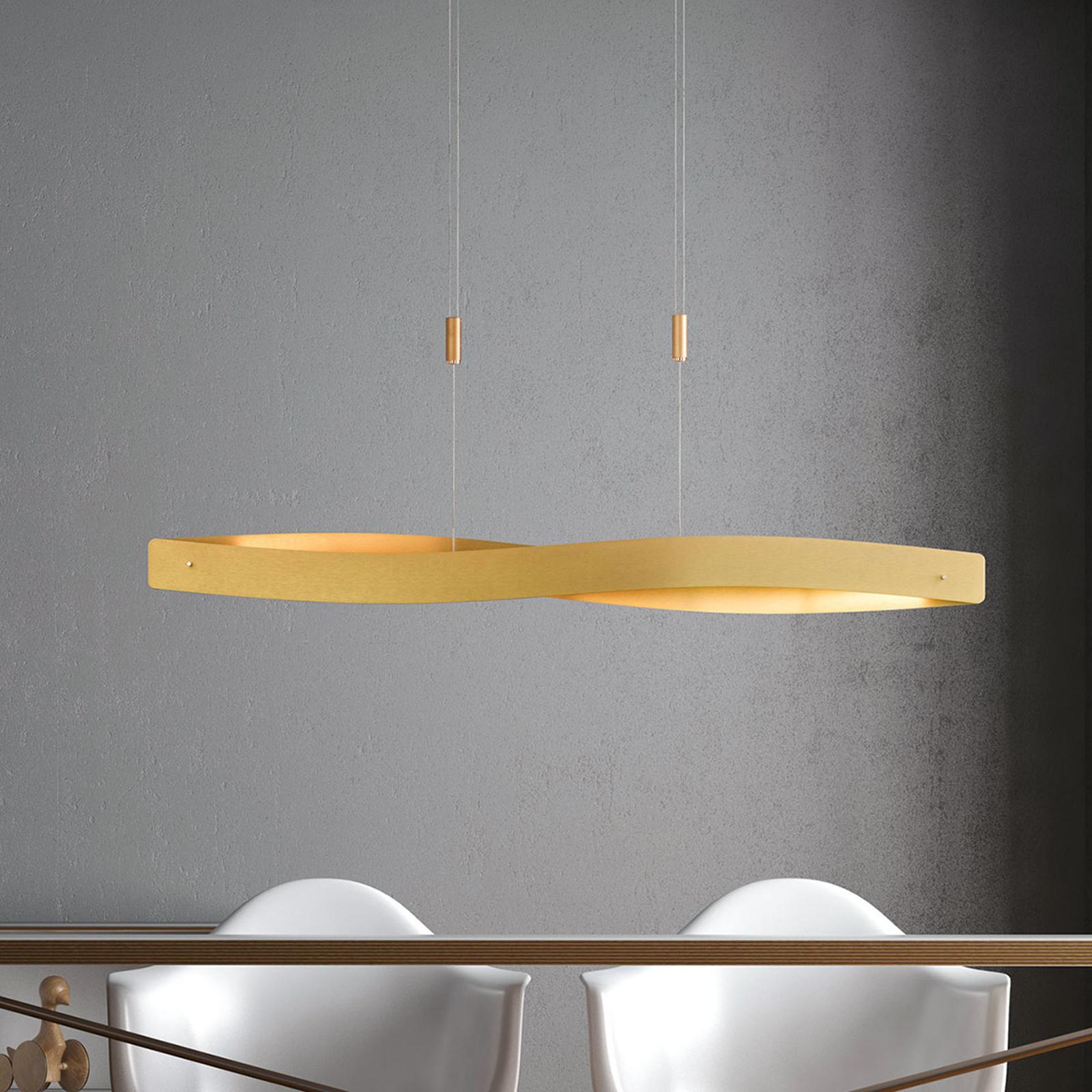 Lucande Lian LED-riippuvalaisin, messinki