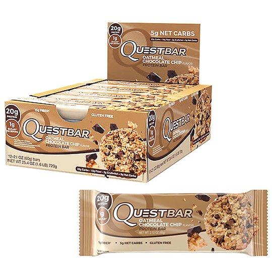 """Laatikko: Proteiinipatukat """"Oatmeal & Chocolate Chip"""" 12 x 60g - 57% alennus"""