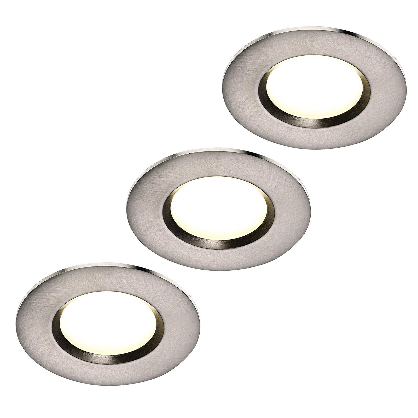 LED-downlight Clarkson 3-er-sett, rund, stål
