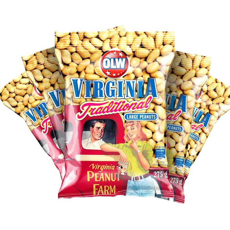 Jordnötter Virginia Traditional 5-pack - 54% rabatt