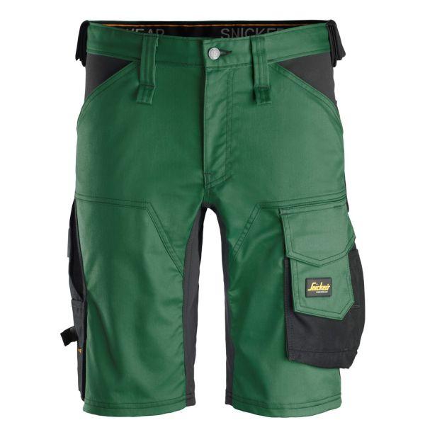 Snickers 6143 AllroundWork Shorts skoggrønn / svart 44