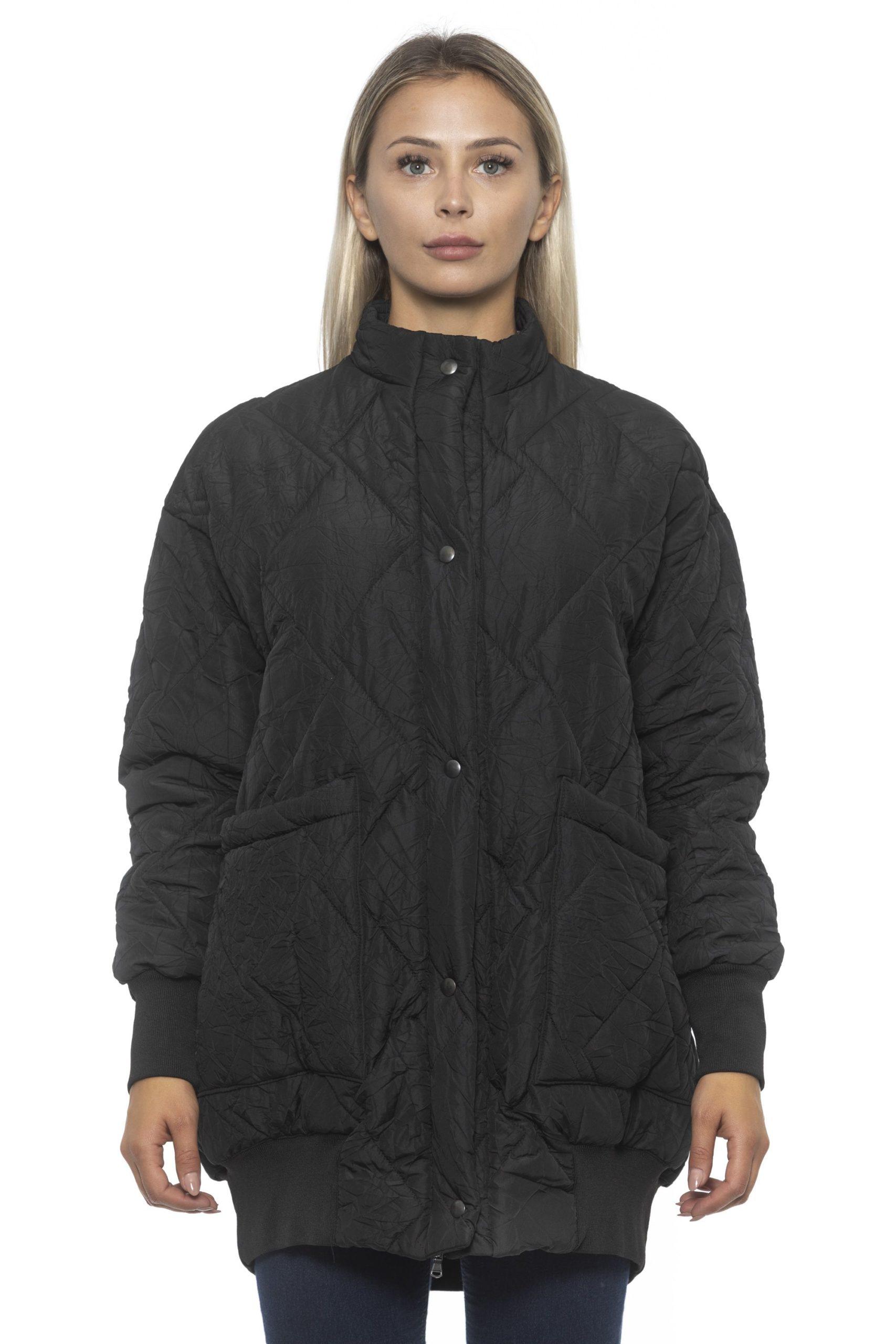 Alpha Studio Women's V A R. U N I C A Coat Black AL1192145 - IT40 | XS