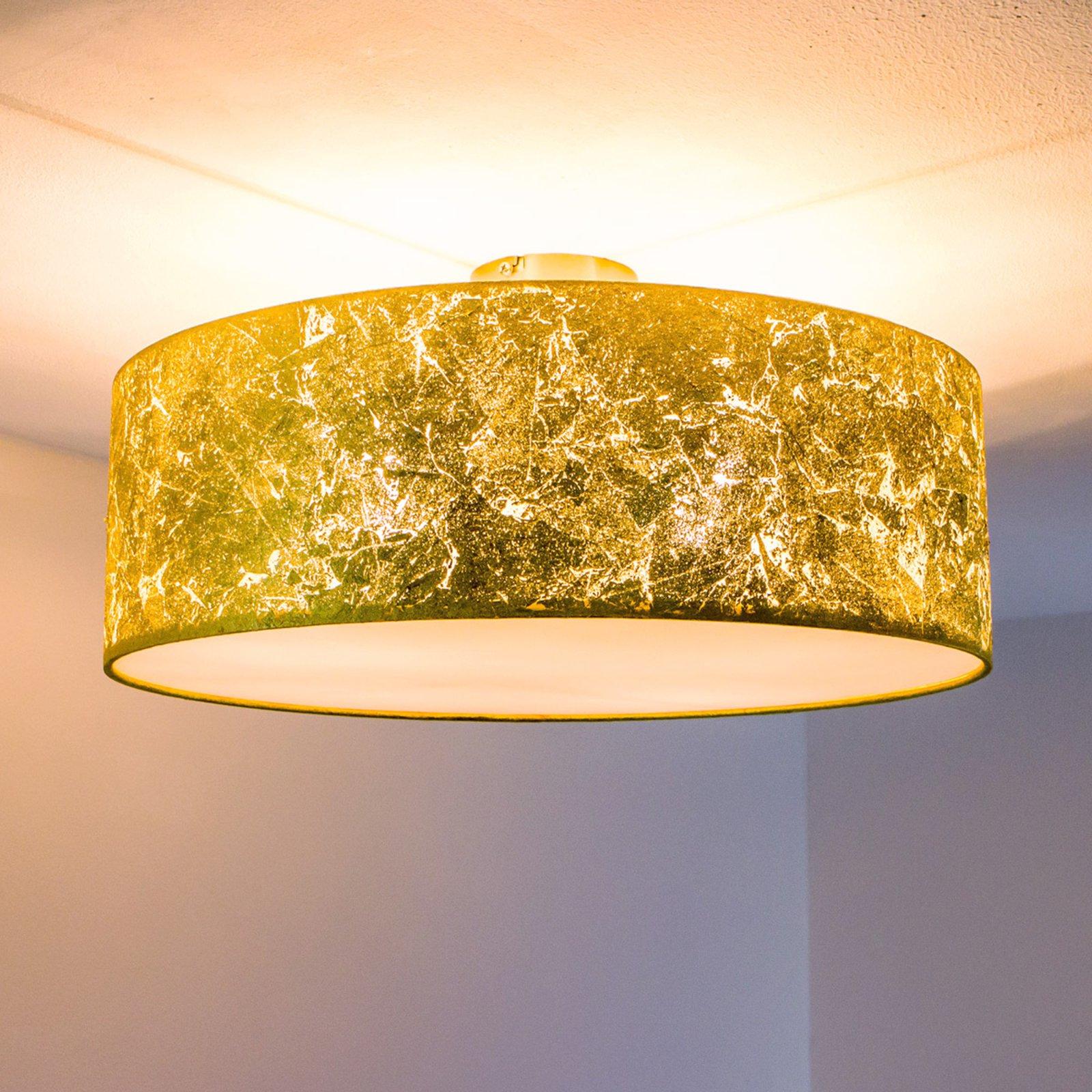 Taklampe Aura belagt med slagmetall