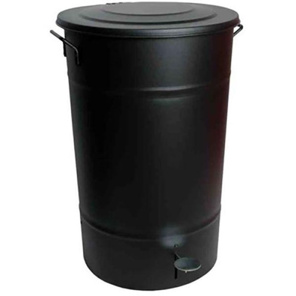 Hykab 11821.1 Avfallsbeholder med tramp, galvanisert, 70 l svart