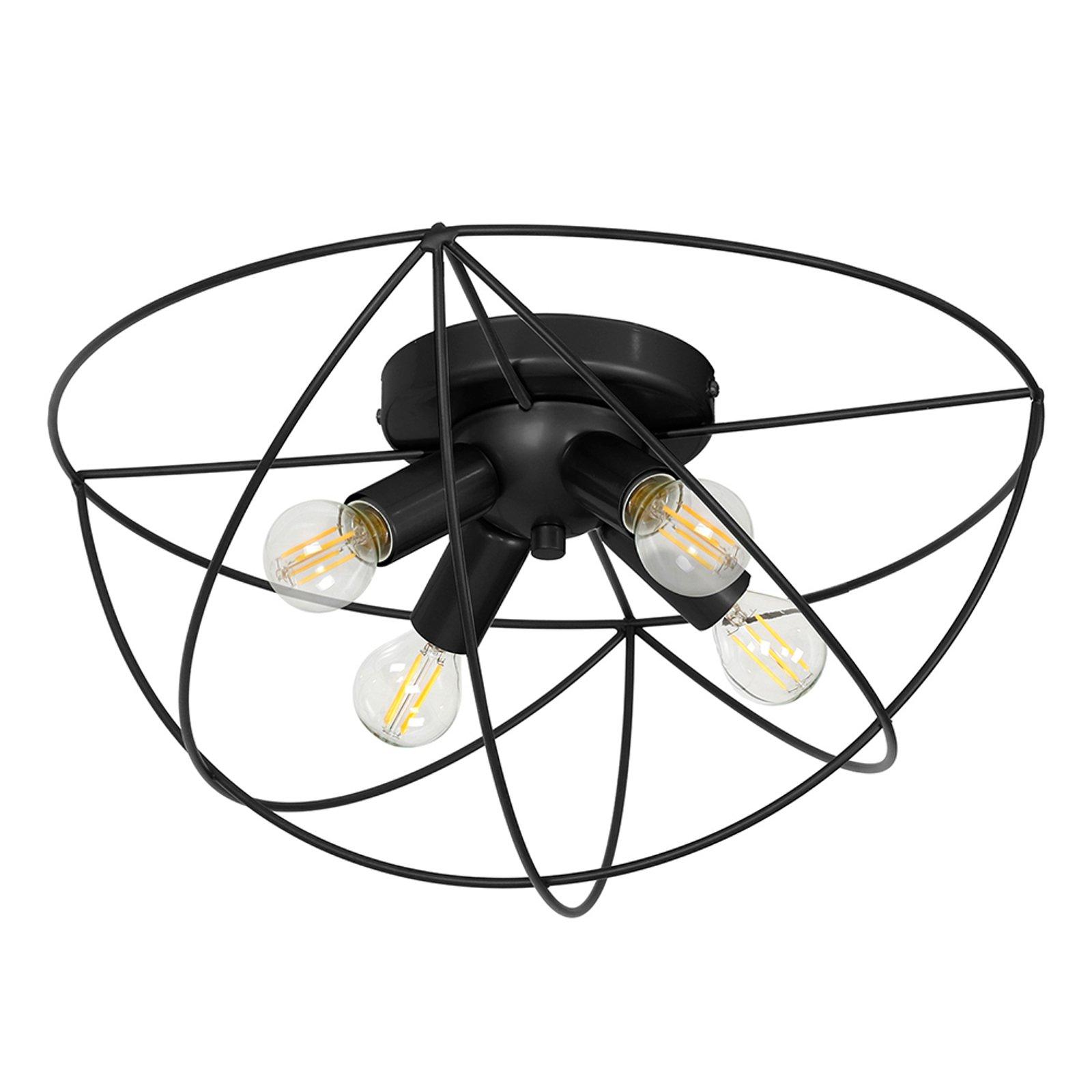 Copernicus taklampe, 4 lyskilder svart