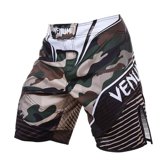 Venum Camo Hero Fight Shorts, Green/Brown