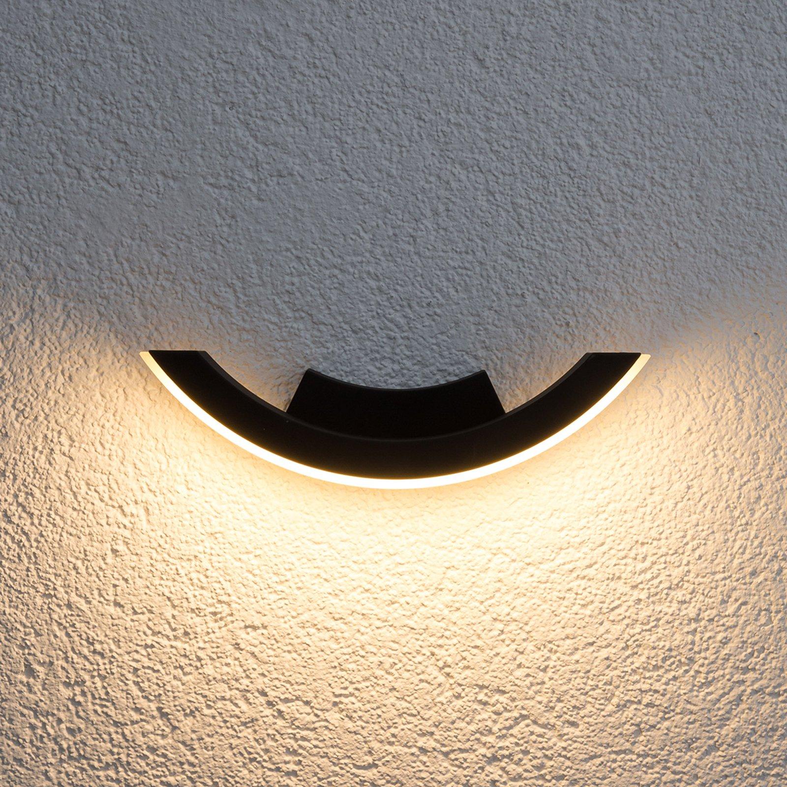 Grafittfarget LED-utevegglys Half