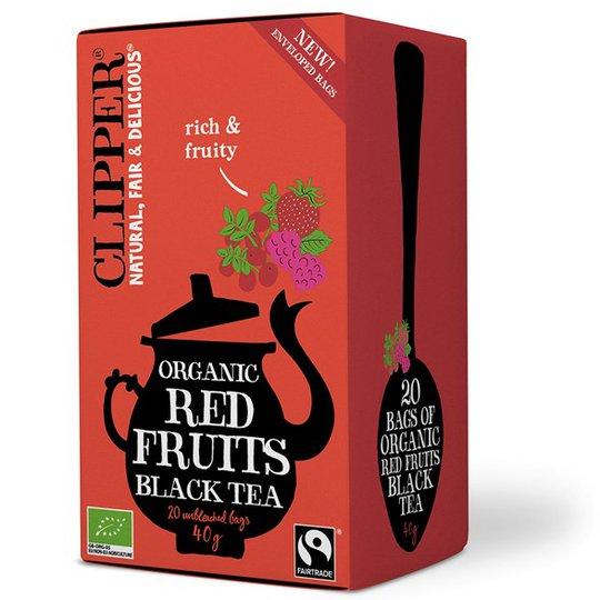 Clipper Svart Te med Röda frukter, 20 påsar