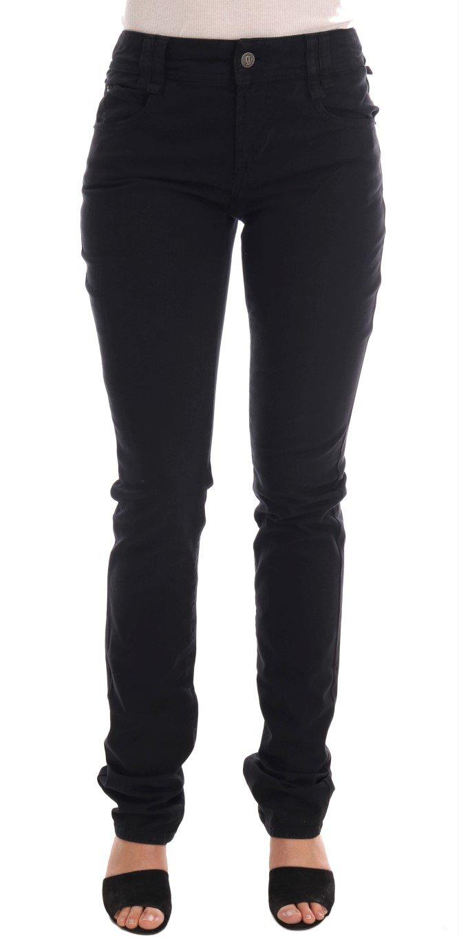 John Galliano Women's Cotton Denim Stretch Regular Fit Jeans Black BYX1173 - W27