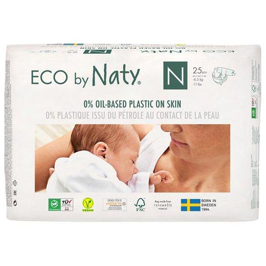 Naty Miljövänliga Blöjor - Storlek N (nyfödd), 25 st