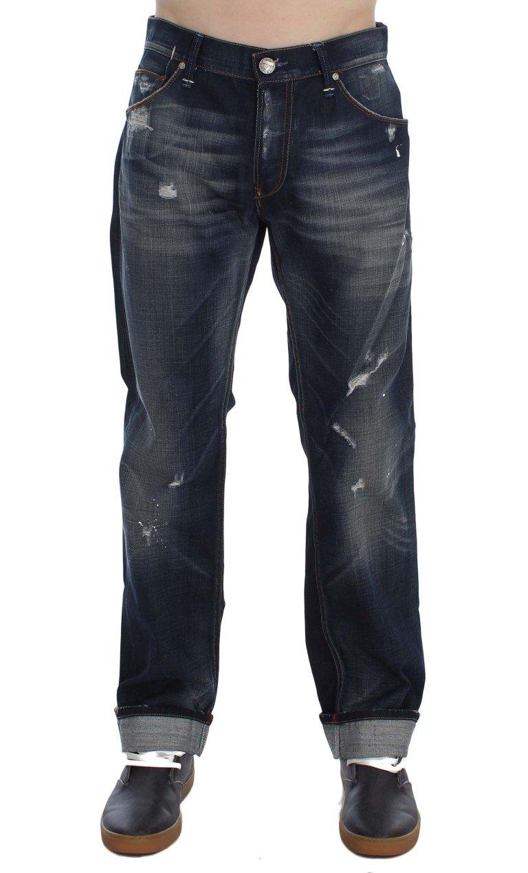 ACHT Men's Denim Straight Fit Jeans Blue SIG30495 - W34