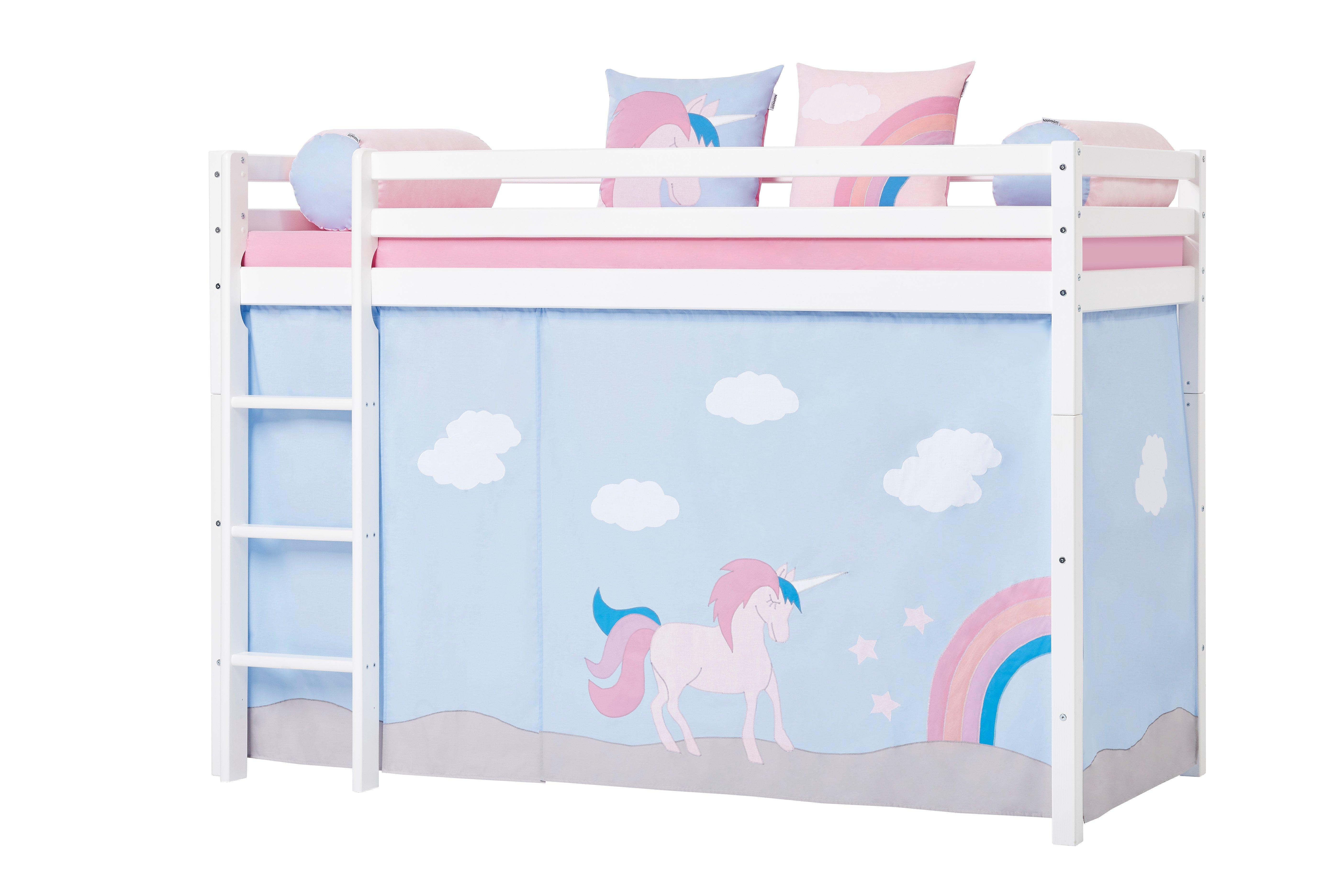 Hoppekids - Play Curtain Mid-High Bed 90x200 cm - Unicorn