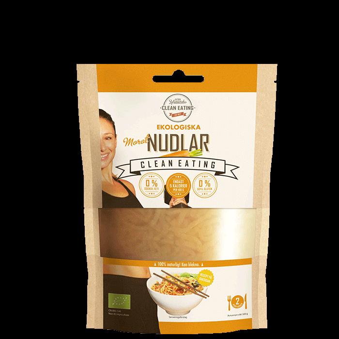 Ekologiska Clean Nudlar Morot, 300 g
