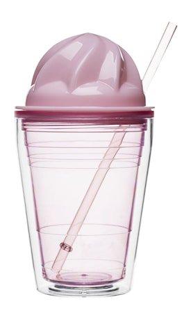 Sweet milkshake med sugerør, rosa