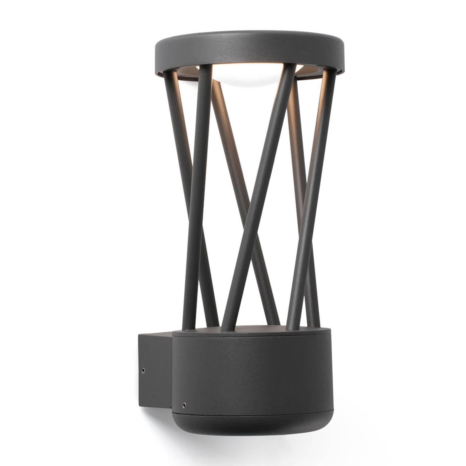 Utendørs LED-vegglampe Twist