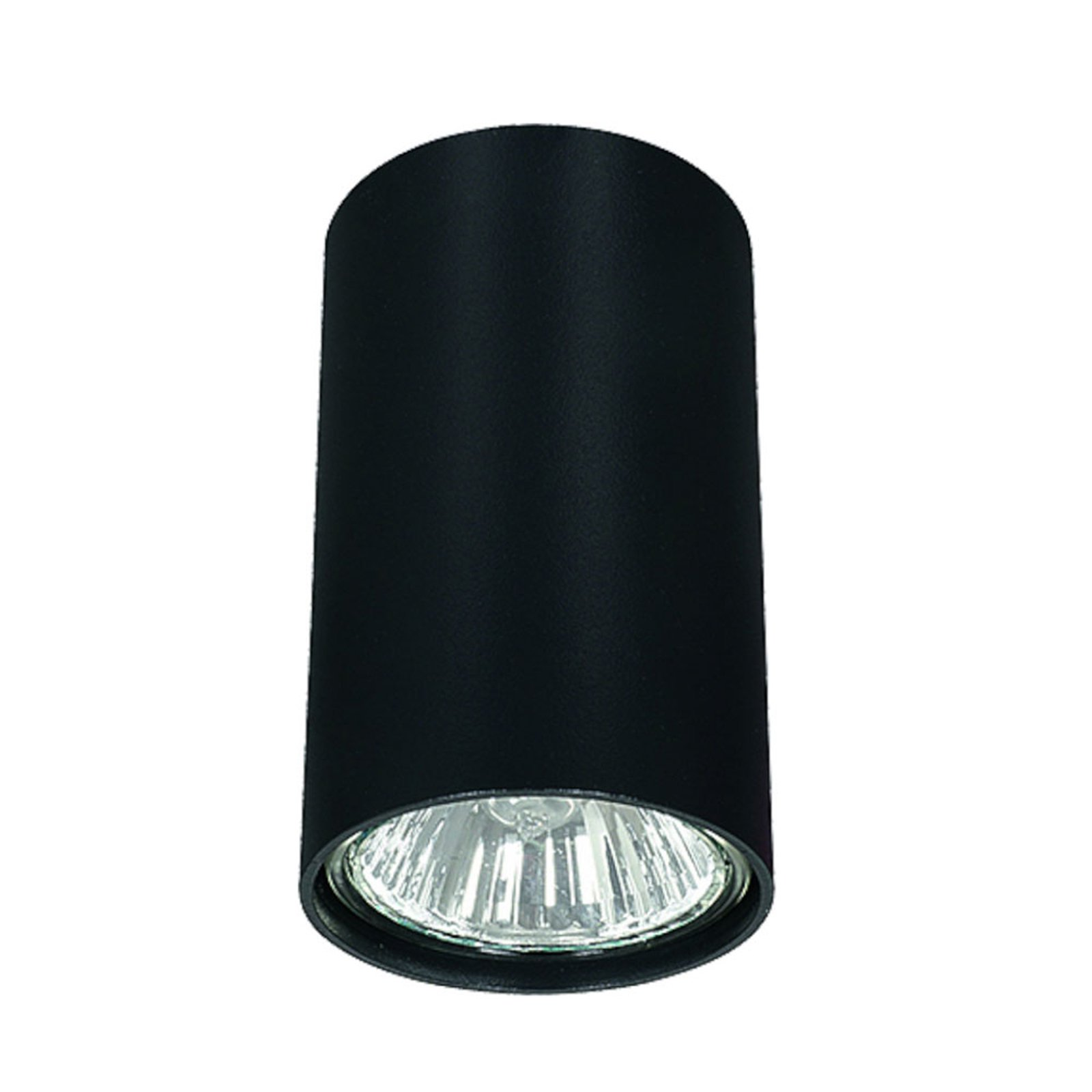 Downlight Eye S i sylinderform, svart