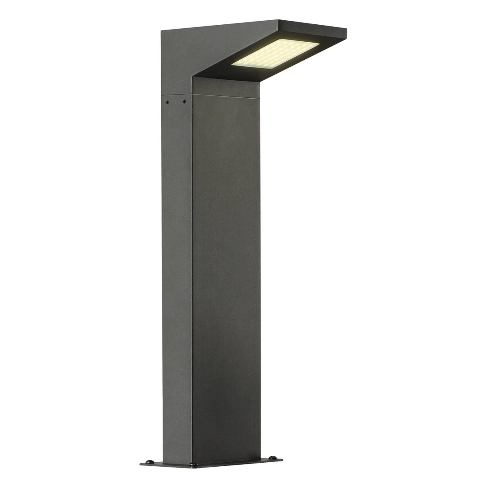 Futuristinen LED-pylväsvalaisin Iperi antrasiitti