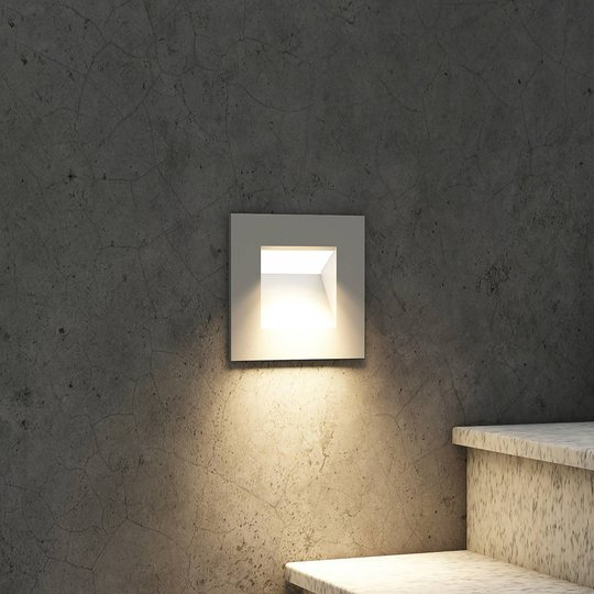 Arcchio Zamo -LED-uppovalaisin, hopea