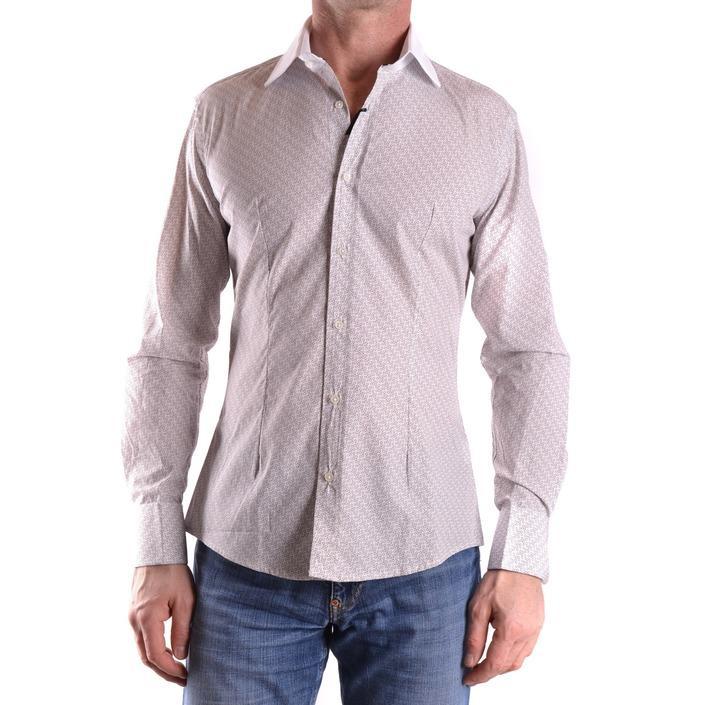 Daniele Alessandrini Men's Shirt Beige 163108 - beige 39