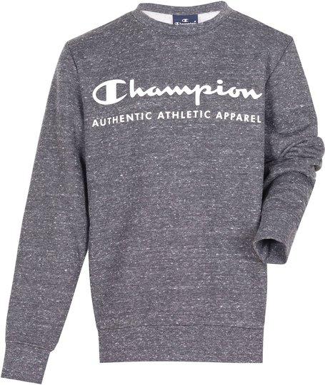 Champion Kids Crewneck Genser, New Charcoal Grey Melange Dark XXS