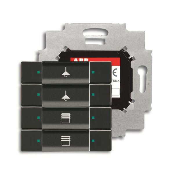 ABB Impressivo 6117-0-0221 Painike 4-napainen painike, väyläliitäntäyksiköllä, KNX Antrasiittiharmaa