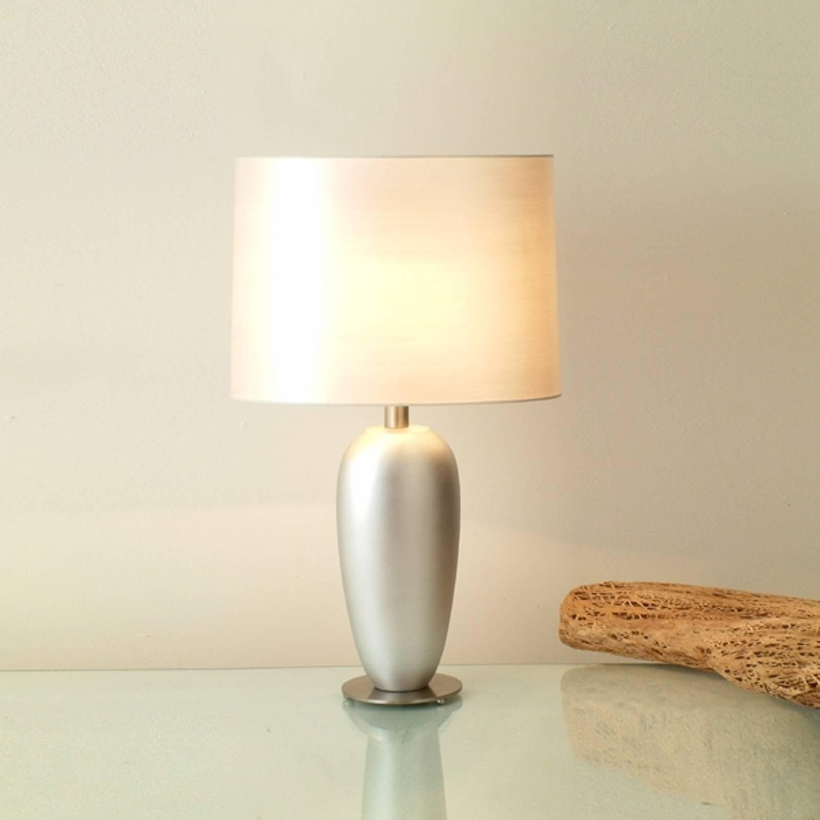 Sølvfarget LAMBDA bordlampe, høyde 65 cm