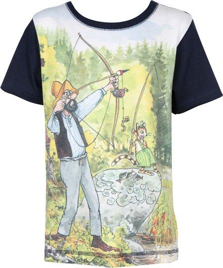 Gubben & Katten T-Shirt, Navy, 92