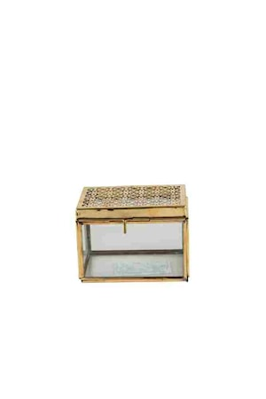 Box Limbo Small Skrin/Låda Glas/Mässing H 10, B 9,5, L 13,5 cm Glas/Mässing