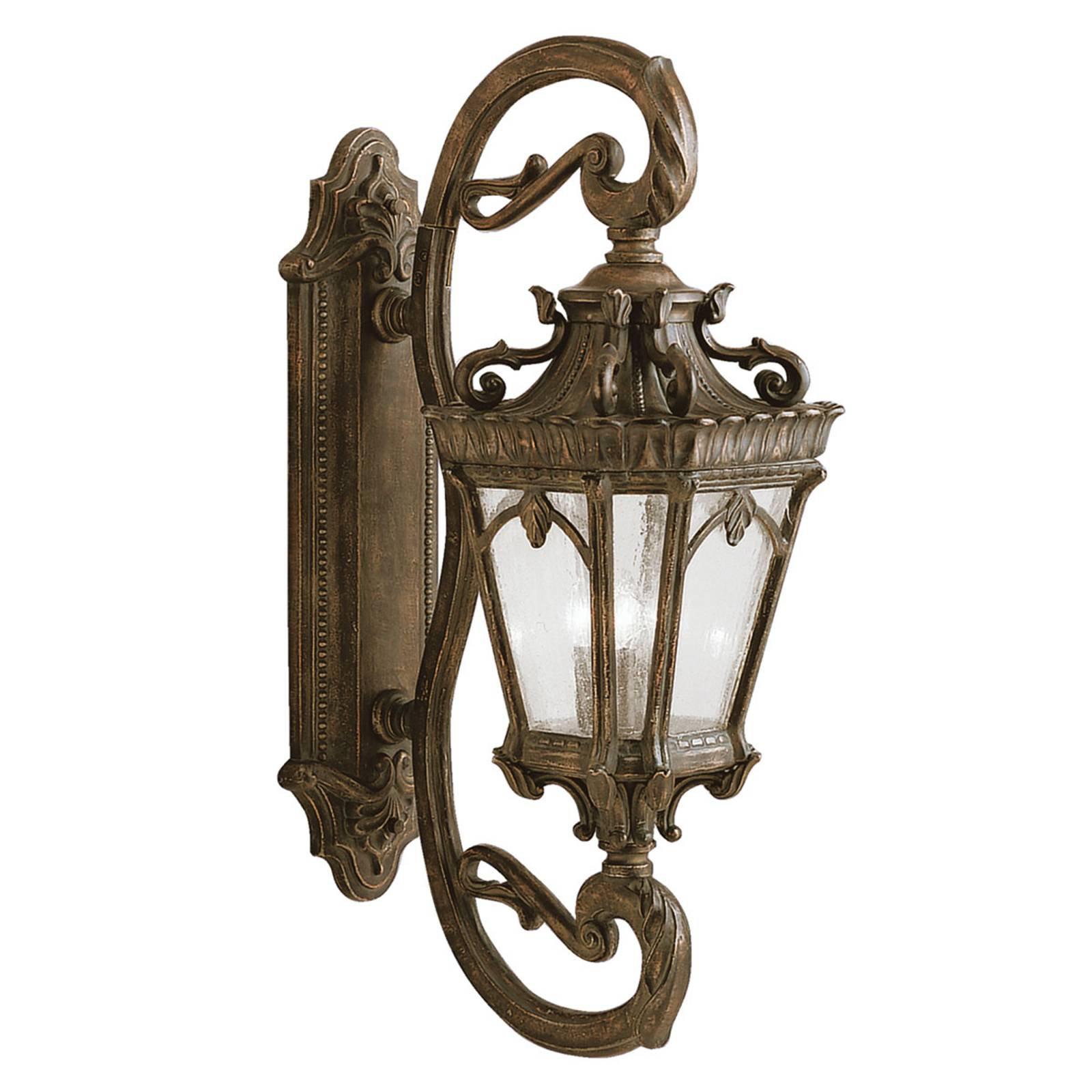 Klassisk, antikk-designet utend. vegglampe Tournai