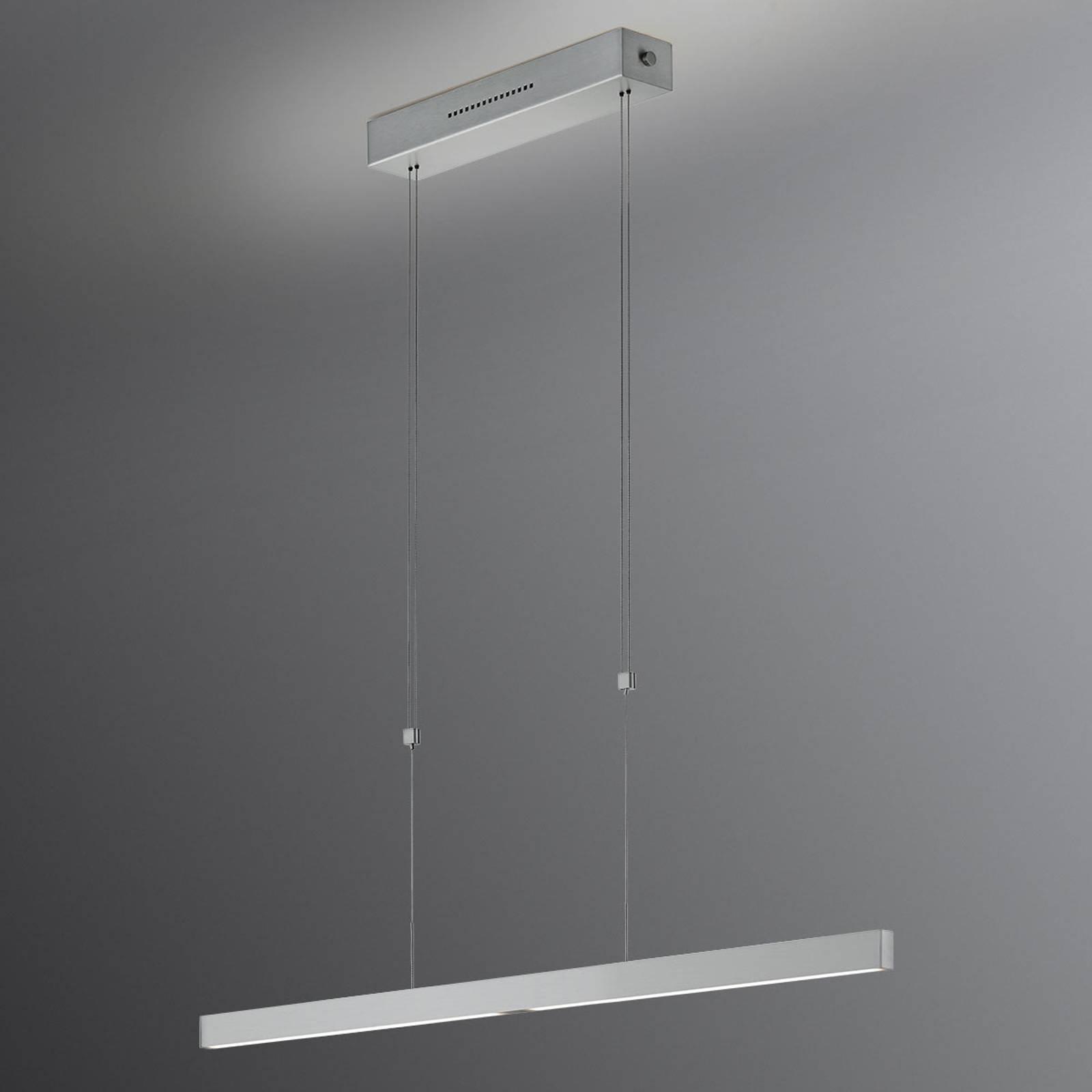 LED-hengelampe Pia gestsensor matt nikkel 68 cm