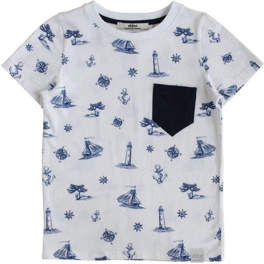 Ebbe Elliot T-Skjorte, Ship Print, 98